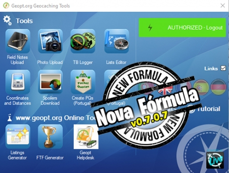 Geocaching Tools: Nova Fórmula